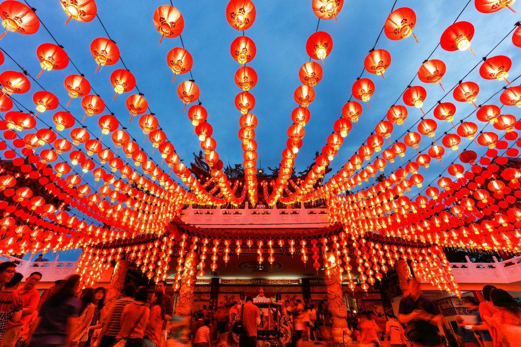 Chinese New Year lanterns; photo c/o National Geographic