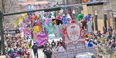Mardi Gras Parade, Mobile, Alabama; photo c/o City of Mobile