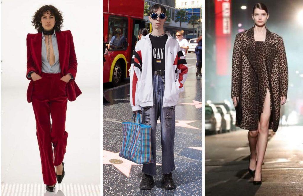 (l-r): Gucci Fall 2021; Balenciaga Pre-Fall 2021, Michael Kors Fall 2021; all photos c/o the respective designers