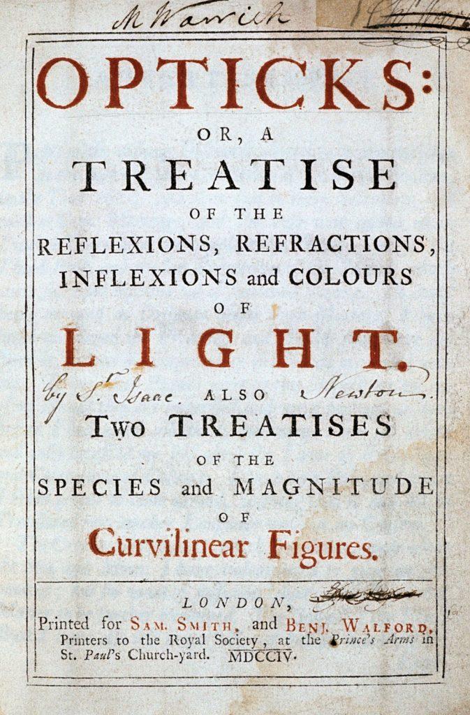 Opticks by Sir Issac Newton; c/o Britannica