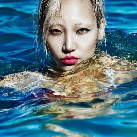 Model Soo Joo Park for W Korea, July 2015; c/o W Korea