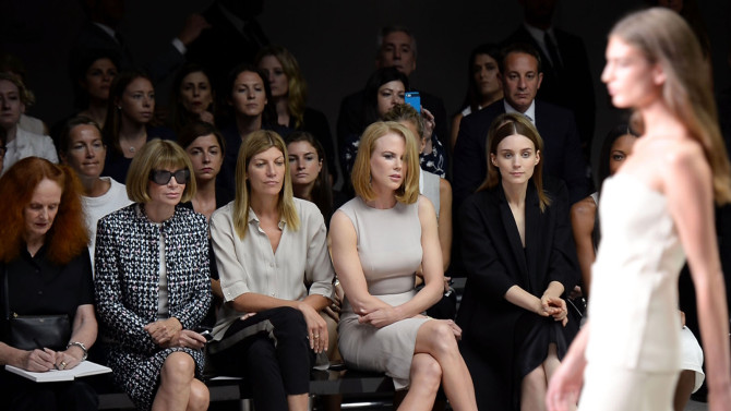 Front row at a fashion show; photo c/o StyleCaster