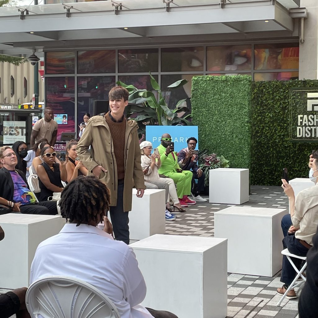 A model walks for Primark during the opening show on 9/22; photo © Manic Metallic 2021